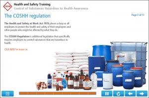COSHH Awareness Online Training Screenshot 3