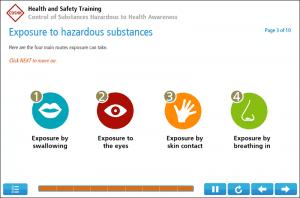 COSHH Awareness Online Training Screenshot 2