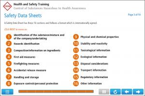 COSHH Awareness Online Training Screenshot 1