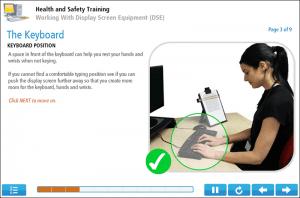 Display Screen Equipment Online Training Screenshot 1