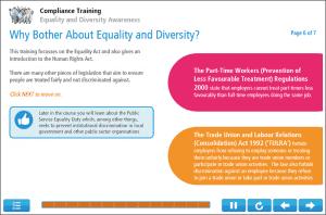 Equality Training Screenshot 1