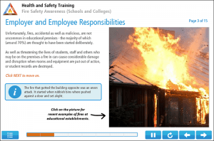 Fire Safety Awareness for Schools Online Training Screenshot 1
