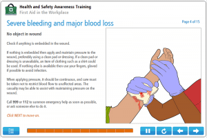 First Aid in the Workplace Online Training Screenshot 1