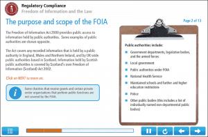 Freedom Of Information Certificate Screenshot 1