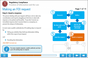 Freedom Of Information Certificate Screenshot 3