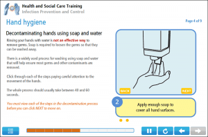 Infection Control Online Training Screenshot 2