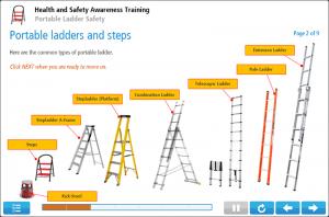 Ladder Safety Awareness Online Training Screenshot 1