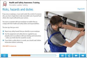 Ladder Safety Awareness Online Training Screenshot 2