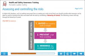 Ladder Safety Awareness Online Training Screenshot 3