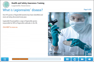 Legionella Awareness Online Training Screenshot 1