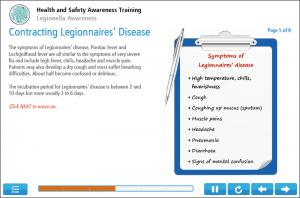 Legionella Awareness Online Training Screenshot 2