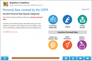 Data Protection and the GDPR (Level 1) Online Training Screenshot 3