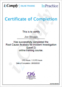 RCA Example Certificate