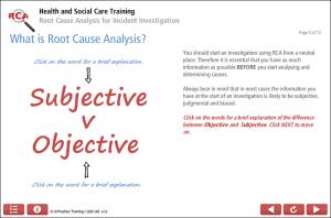 Root Cause Analysis Level 1 Screenshot 1