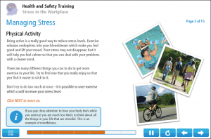 Stress in the Workplace Online Training Screenshot 3