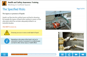Working in Confined Spaces Online Training Screenshot 3
